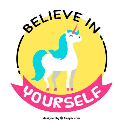 imagenes de unicornio frases unic 243 rnio colorido com uma frase positiva baixar vetores
