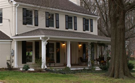 maryland colonial house arched portico maryland custom