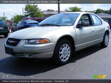 2000 Chrysler Cirrus Lx by Bright Silver Metallic 2000 Chrysler Cirrus Lx Silver