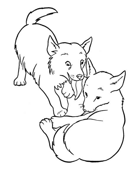 puppy playing coloring page free printable dog coloring pages for kids