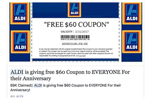 aldi $100 coupon facebook