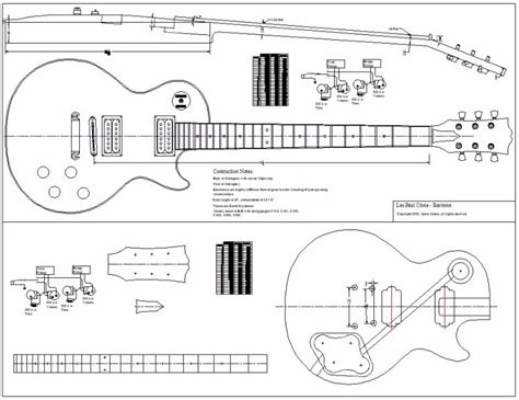 les paul guitar template woodworking central acoustic guitar plans and templates