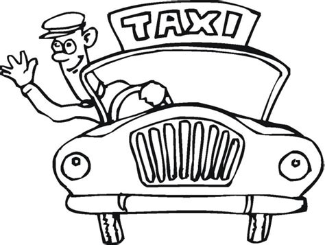 taxi cab driver coloring pages for preschoolers coloring