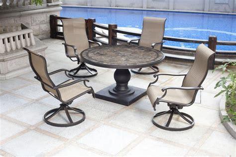 menards patio furniture backyard creations murano 5 patio collection at menards 174
