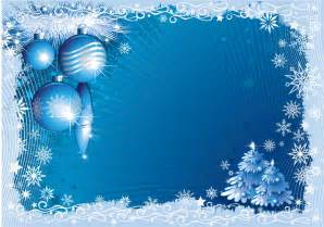 blue christmas frame with snowflakes free vector
