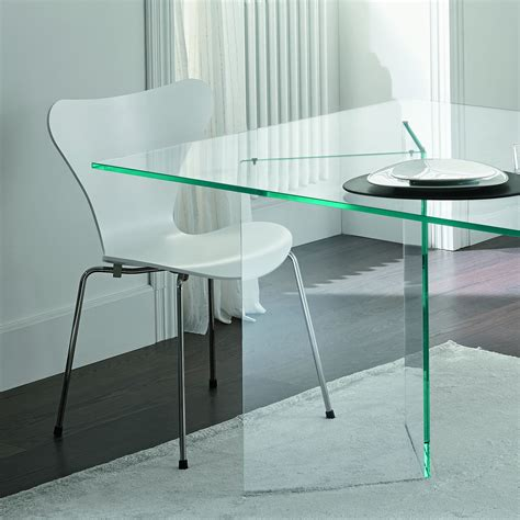 glass dining room table tonelli bacco glass dining table klarity glass furniture
