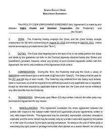 agreement between employer and employee template employment agreement template 9 free sle exle
