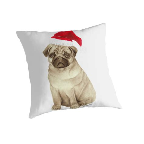 pug throw quot pug quot throw pillows by sophdoesnails redbubble