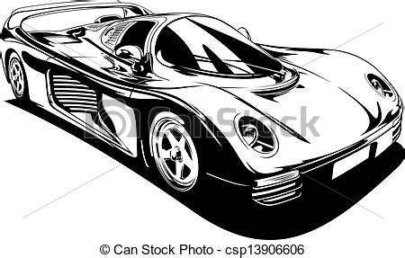 sports car black and white fast car clipart black and white clipartxtras