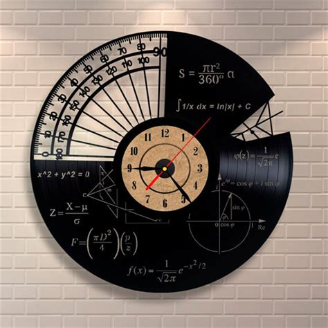 Records For Homes Wall Mounted Vinyl Records Wall Clock Math Themes Quartz Decorative Wall Clocks For