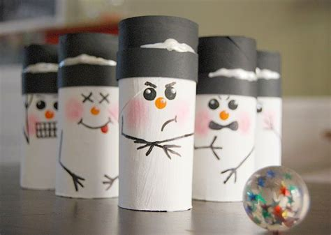 Snowman Toilet Paper Roll Craft - snowman snowmen bowling crafts for