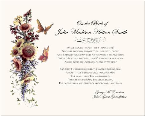 floral design certificate edmonton sunflowers birth certificate christening certificates