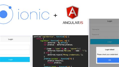 ionic authentication tutorial login exle with ionic and angularjs