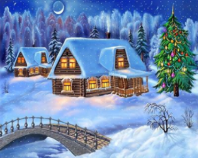 wallpapers  christmas snow house desktop wallpaper backgrounds