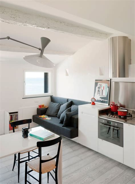 micro living spaces small modern attic apartment with harbour view