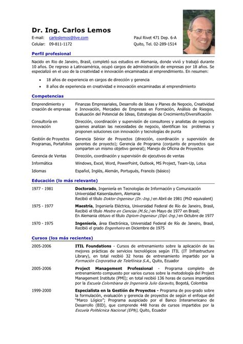 modelos de curriculum vitae espaol search results calendar 2015