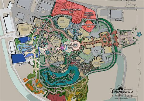online land layout marvel frozen and castle expansion at hong kong