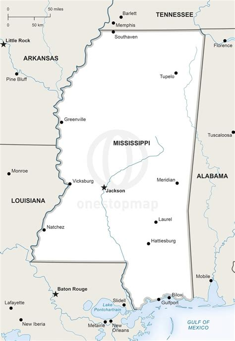 printable map mississippi vector map of mississippi political one stop map