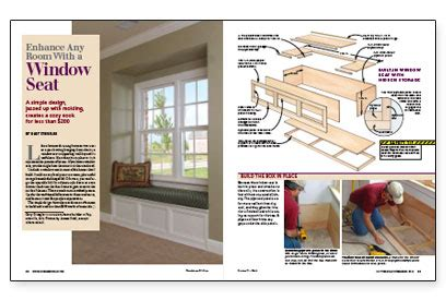 enhance  room   window seat fine homebuilding