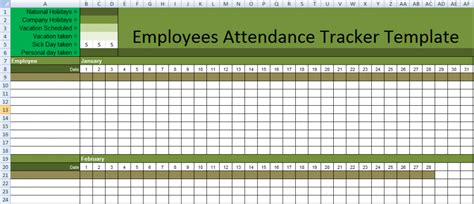 employee attendance sheet template stunning employee attendance tracker template in excel