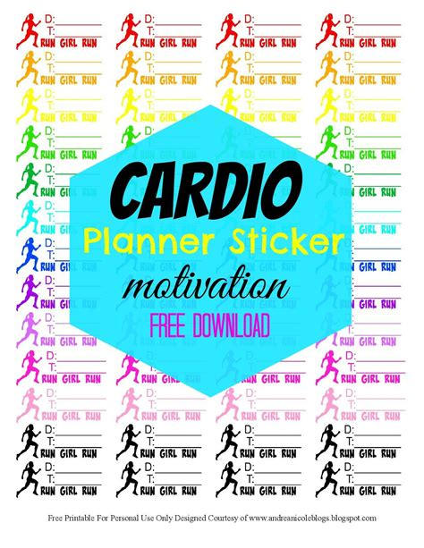printable workout stickers andrea nicole free printable fitness planner sticker