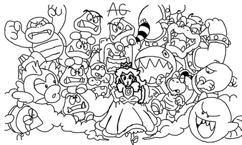 Mario 3d Land Coloring Pages Free Coloring Pages Of Mario 3d Land