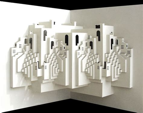Papercraft Architecture - stunning paper crafts from ingrid siliakus