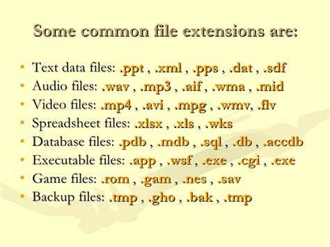 video format extensions common repair file extension errors and related issues