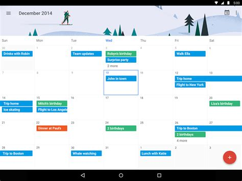 calendar s update with material design is stunning talkandroid - Gmail Apps For Android