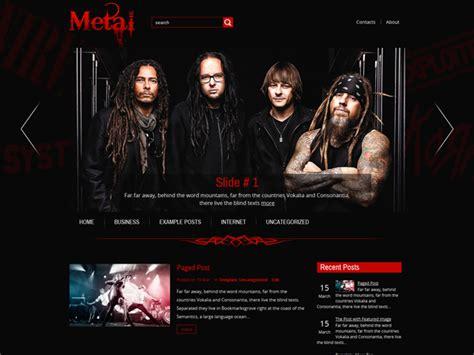 Metal Free Wordpress Theme Metal Band Website Template