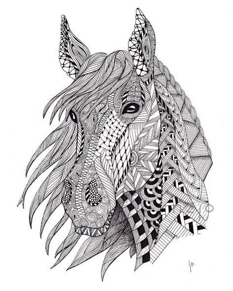 zentangle pattern horse zentangle horse google search for the kids pinterest