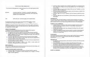 Sales Agreement Template Word by Commission Sales Agreement Template Microsoft Word Templates