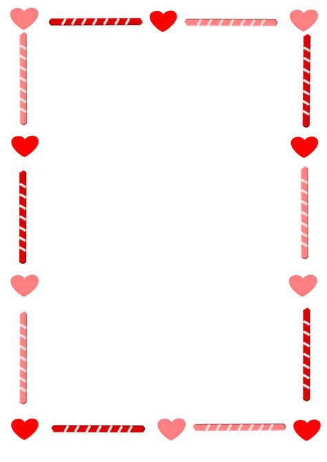 valentines day boarder clipart and border