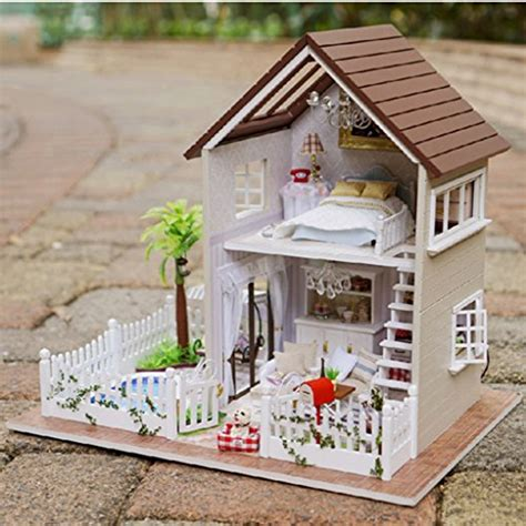 hand made doll house rylai wooden handmade dollhouse miniature diy kit paris apartment wooden