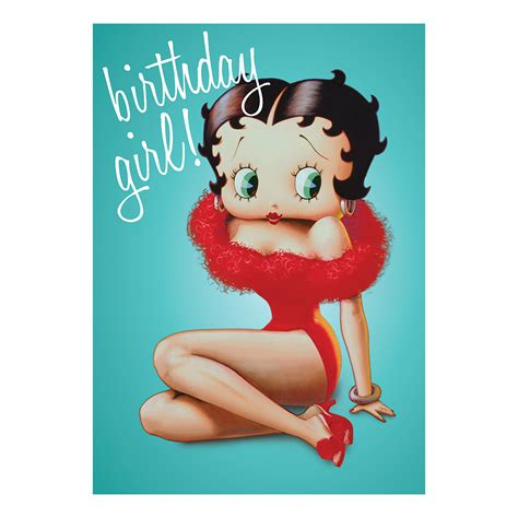 Betty Goes Vintage by Betty Boop Birthday Greeting Card Gift Blank Retro