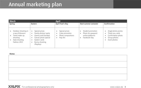 Photography Marketing Plan Template sle photography marketing strategy template for free page 4 formtemplate