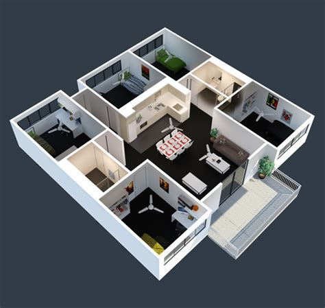 5 Bedroom Apartment by Apartment Room Renting Apartment Modern Minimalist Decor
