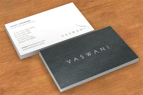 vaswani business card design graphic design