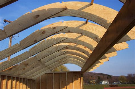 arched roof construction photo hantekor