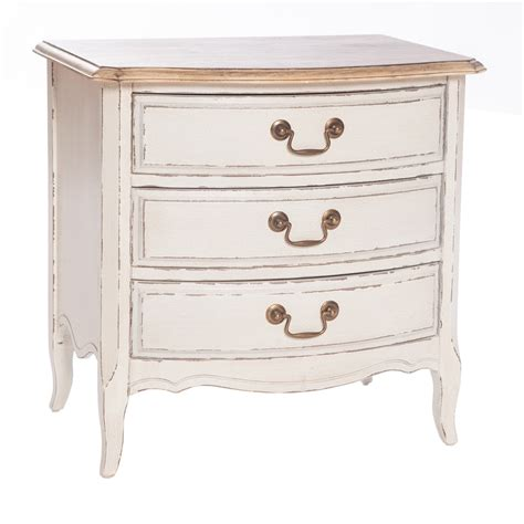 white shabby chic bedside table poitiers white shabby chic 3 drawer bedside table