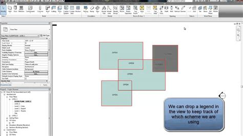 revit tutorial color scheme revit tip color schemes and filter youtube
