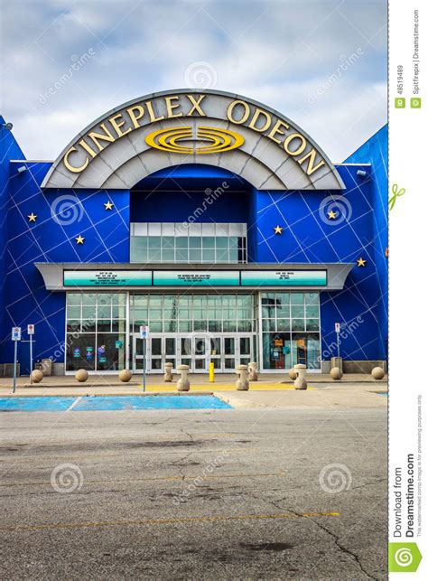 layout of devonshire mall cineplex odeon theater entrance editorial stock image
