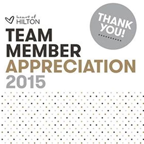 team member appreciation week survey | hilton garden inn