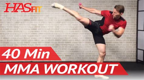 minute mma workout routine hasfit  full length