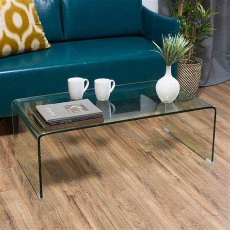 glass waterfall end table glass waterfall rectangle coffee table