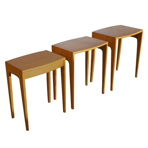 Stacking End Tables heywood wakefield stacking nesting side end tables m312 ebay