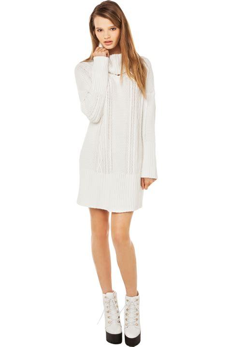 white knit sweater dress white knit dress dress ty