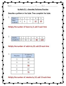 pattern test for grade 3 go math practice 3rd grade 5 1 describe patterns