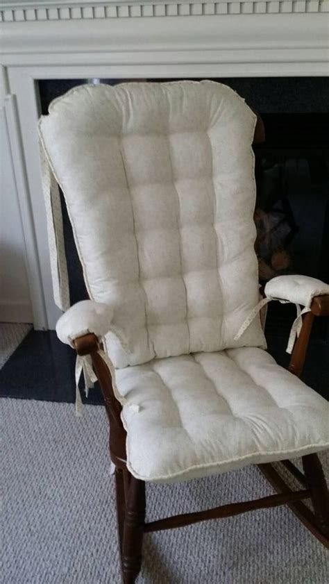 custom ivory rocking chair cushions glider replacement pads rocker cushions wooden rocking