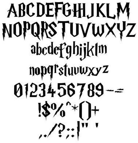 harry potter fonts happy birthday harry potter font
